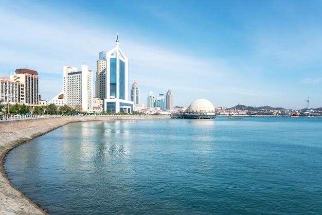 Qingdao's beautiful coastline and architectural landscape