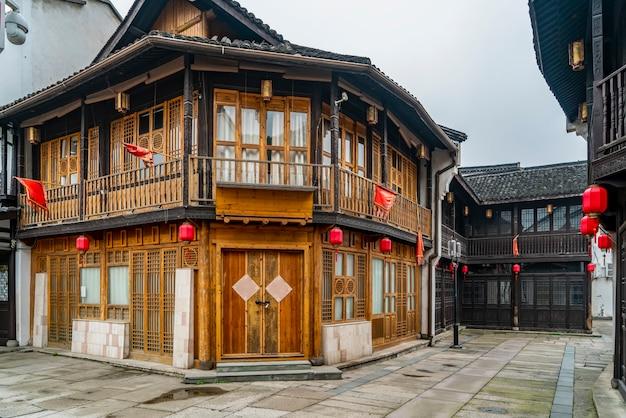Qinghefang древняя улица вид в городе ханчжоу, провинция чжэцзян, китай