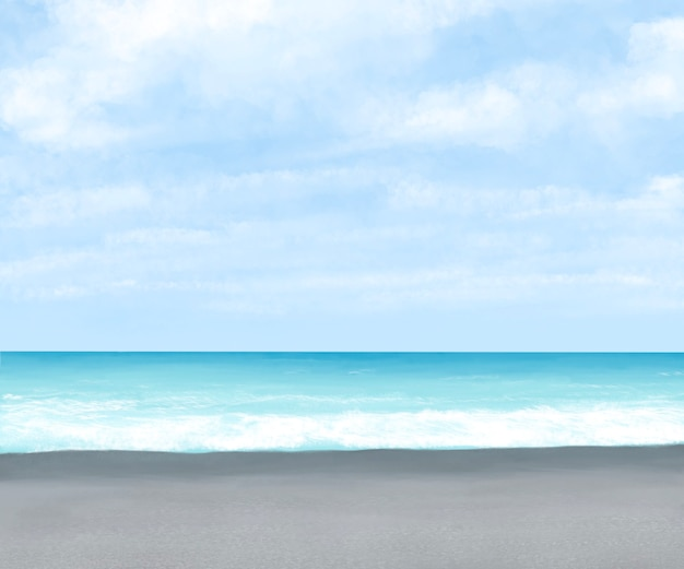 화롄 대만의 푸른 하늘과 바다가 있는 치싱탄 해변 모래와 바위 해변