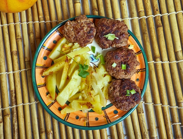 Qofte ferguara meatballs one of albania's national dishes as well as a part of the middle eastern cuisine