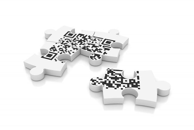 Qr code on puzzle