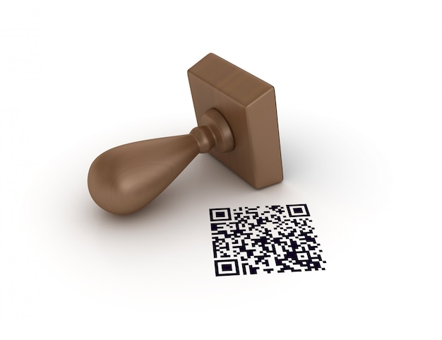 Qr code rubber stamp
