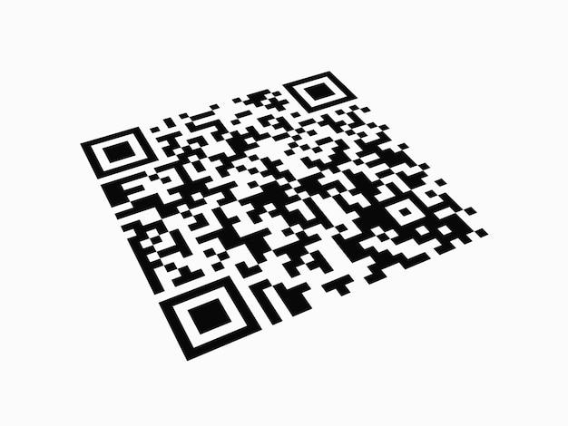 Qr code on white