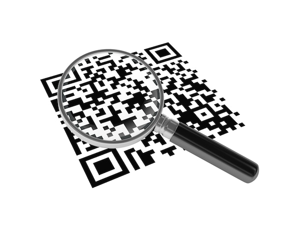 Qr code with loupe