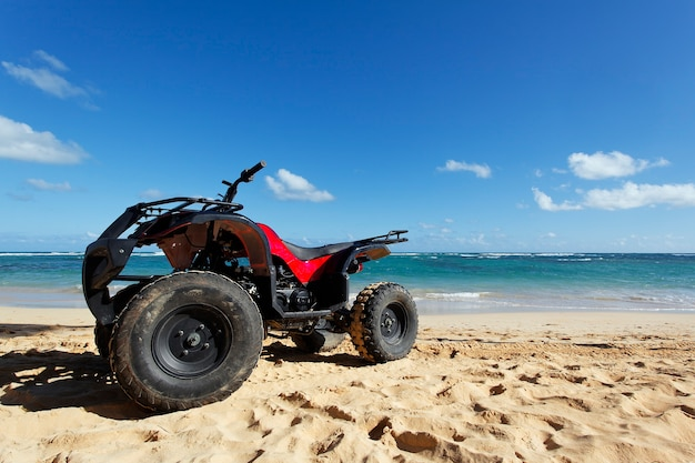 Quad in the beach