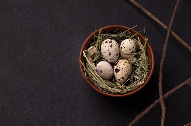 Quail easter eggs