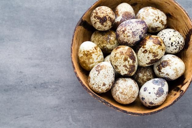 Quail eggs in the bowl