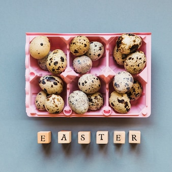 Quail eggs and easter letters