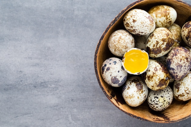 Quail eggs in the nest, a symbol of spring.