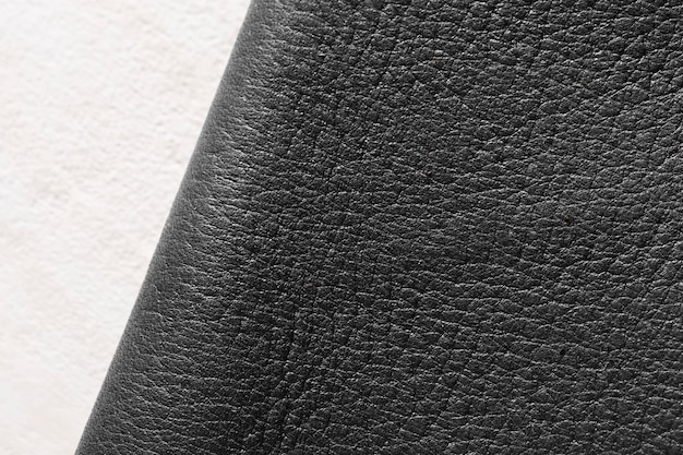 Quality leather material on white background