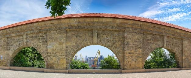 Quarantine arch in odessa, ukraine