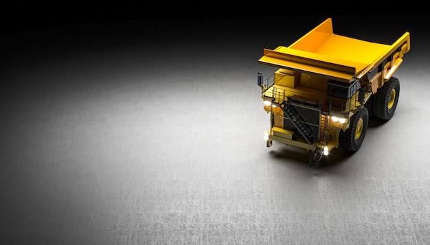 Quarry truck background