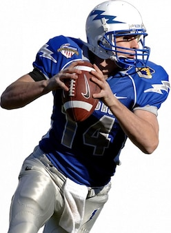 Quarterback american football competition sport