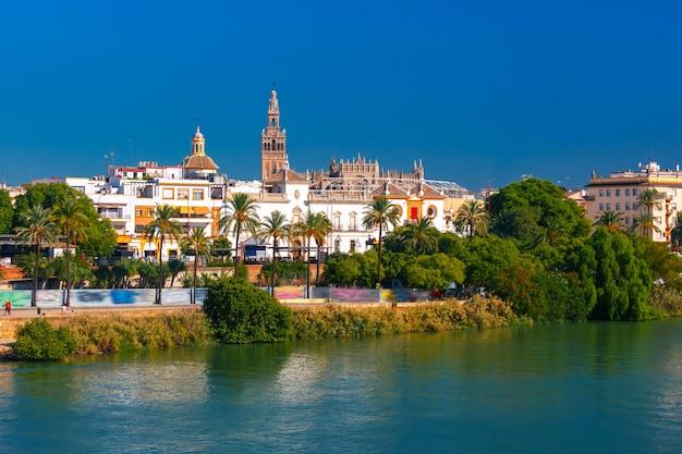 Quay of guadalquivir and giralda, seville , spain