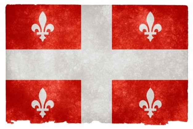 Quebec grunge flag   red