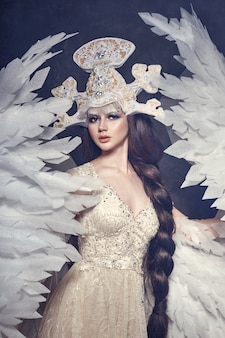 Queen of angels. lovely dress with wings