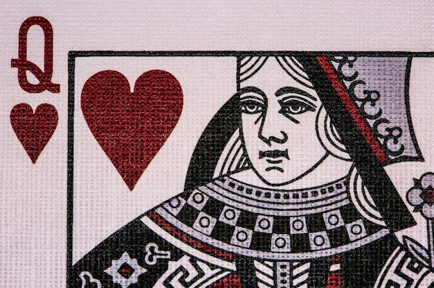 Queen of hearts. poker casino playing cards