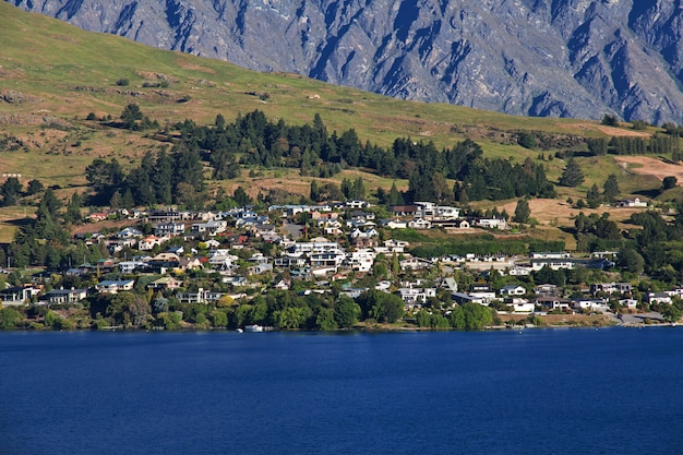 Queenstown city on south island, new zealand