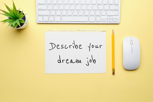 Question about hiring and presenting a dream job.