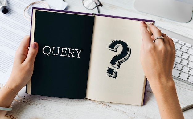 Question mark query information support service graphic Free Photo