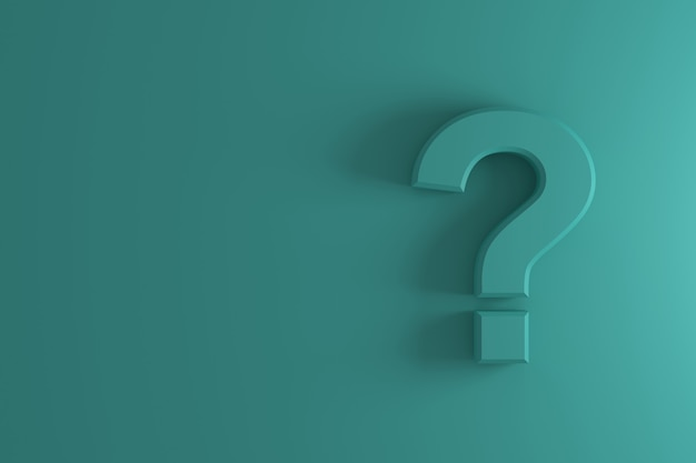 Question mark sign banner. 3d rendering.