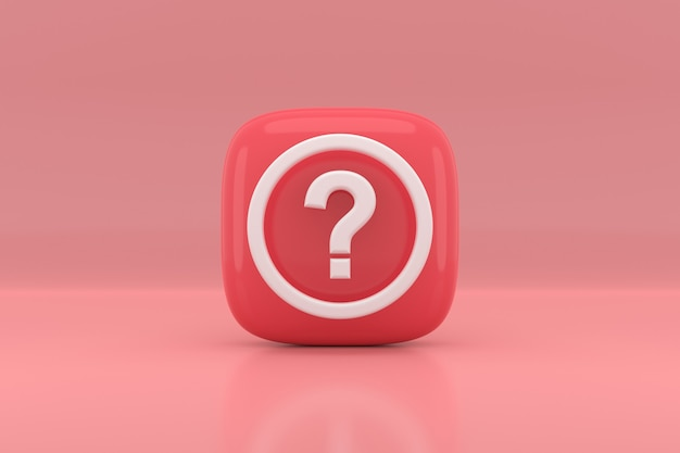 Question mark sign icon design. 3d rendering.