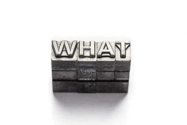 Question word, who, what, when, where, why, letterpress