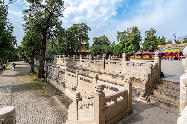 Храм и кладбище цюйфу конфуция в китае - всемирное наследие юнеско