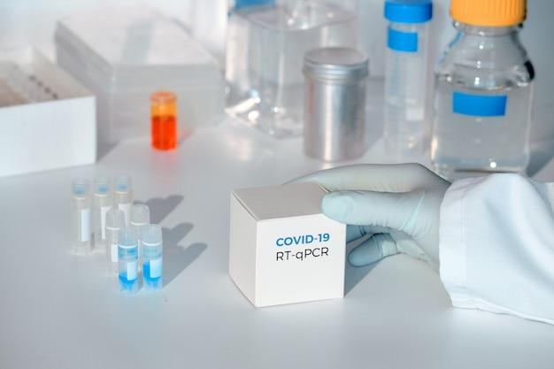 クイックノベルcovid-19コロナウイルステストキット。 2019 ncov pcr診断キット。グローブwithboxを渡します。 rt-pcrキットは患者のサンプルからcovid19ウイルスを検出します。 ¢リアルタイムpcr増幅に基づいて最適。