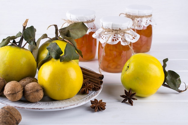 Free Photo   Delicious and healthy homemade quince jam in glass