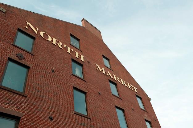 Здание quincy market в бостоне, штат массачусетс, сша