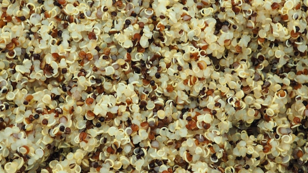 Киноа - популярная здоровая пища. с высоким содержанием клетчатки и белка, витаминов, без глютена и с очень высоким содержанием антиоксидантов.