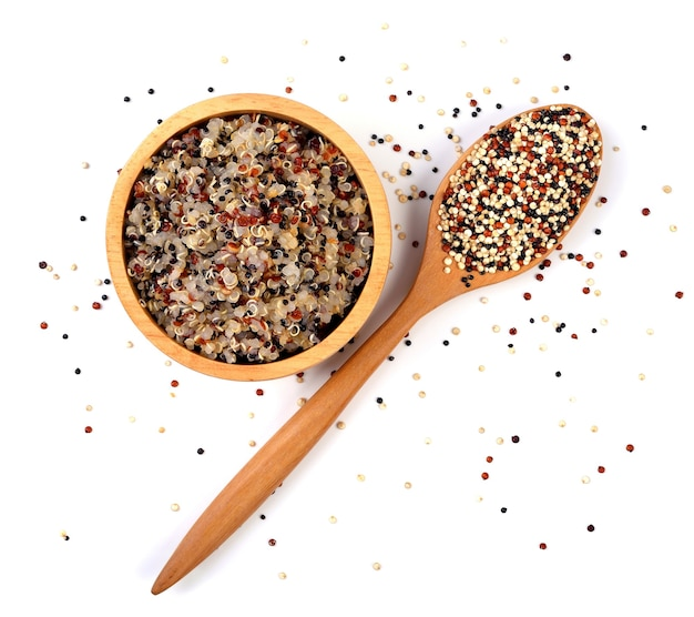 Quinoa seeds isolated on a white background