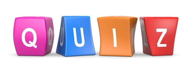 Quiz funny cubes