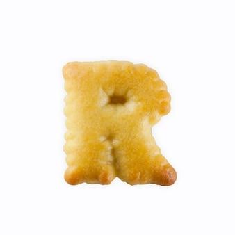 アルファベットの形のr形クラッカー