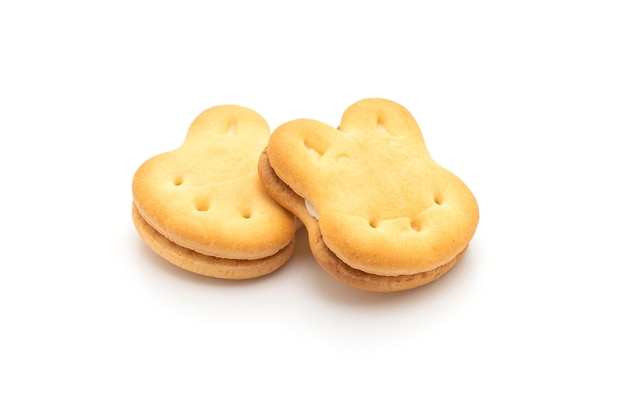 고립 된 크림 토끼 쿠키
