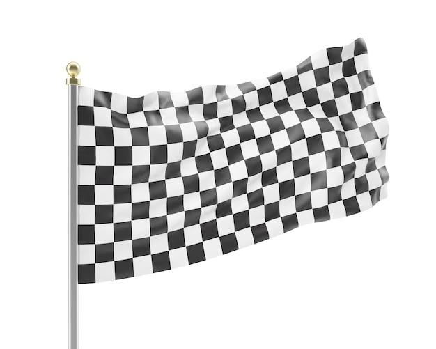 Гоночный флаг, изолированные на белом.