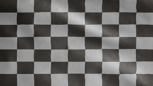 Racing flag waving on the wind. car race or auto sport, motorcycle speed competition
