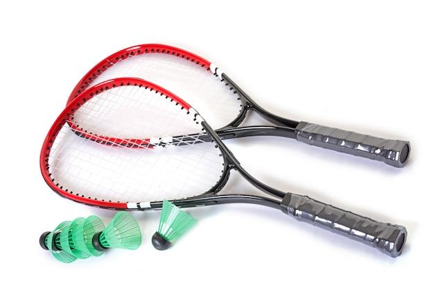 Racket and shuttlecock of badminton