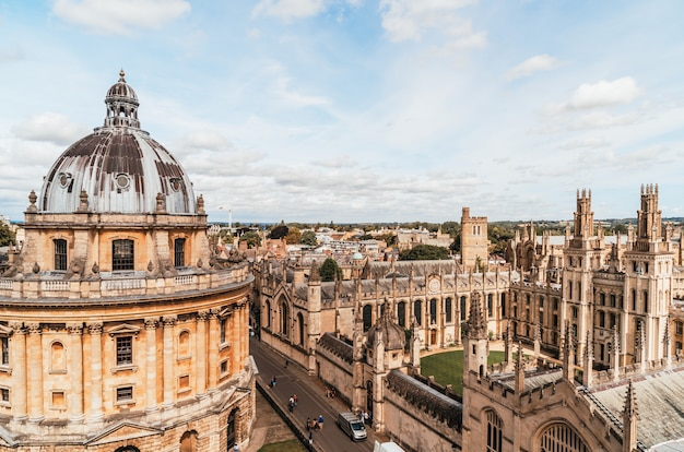 Radcliffe camera and all souls college at the university of oxford. oxford, uk