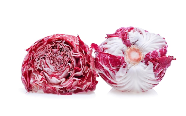 Radicchio, 레드 샐러드 흰색 절연