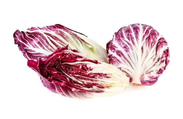 Radicchio, 흰색 바탕에 빨간 샐러드