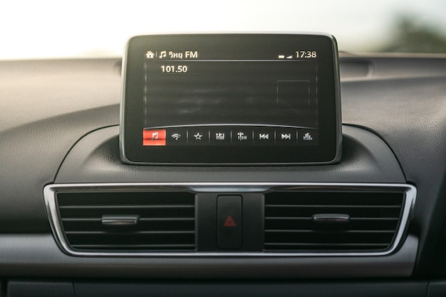Radio in a car