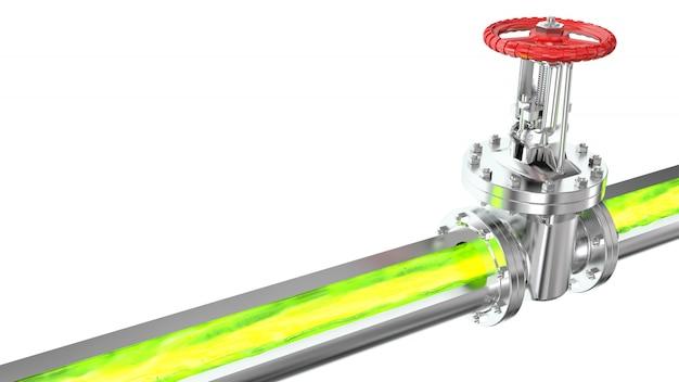 放射性および有毒物質が導管を流れる
