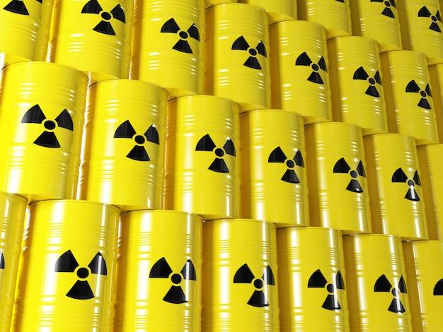 Radioactive barrel