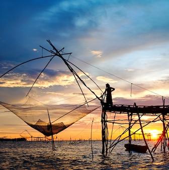 魚を捕まえるためのraft dip netツール