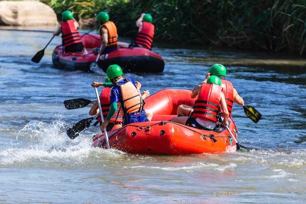 Rafting at mae taeng extreme and fun sport
