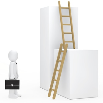 Rag doll looking ladders
