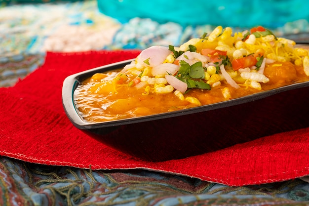 インドの人気屋台料理ragda pattice