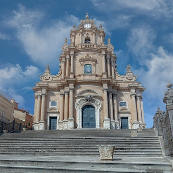 Ragusa cathedral in sicily.